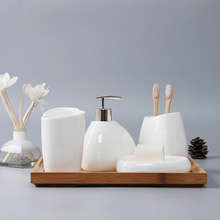 Ceramics Bathroom Accessories Set Soap Dispenser/Toothbrush Holder/Tumbler/Soap Dish Cotton Swab Aromatherapy Bathroom Products newest 5 pcs resin bathroom accessories sets lotion dispenser toothbrush holder soap dish 2 tumbler sets 2017