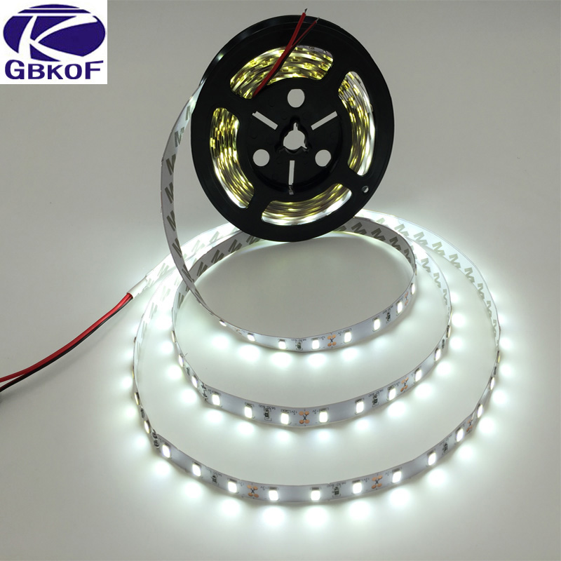 5M/Roll White/Warm white 300 LED Strip light String Ribbon 5630 SMD lamp Tape More Bright Than 2835 3528 5050 For Decorative