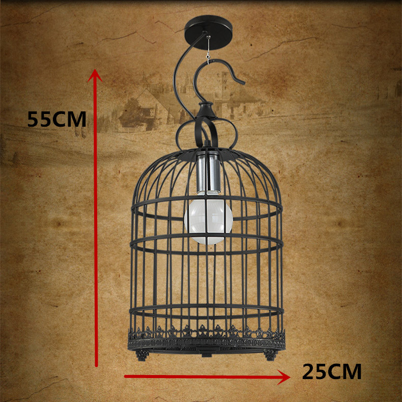 Modern Nordic retro birdcage Pendant Lights led lamps living room Loft retro Pendant lamps E27 led lustre lighting Pendant lamp vintage pendant lights iron loft lamps nordic retro light industrial style cage pendant lamp restaurant lighting pendant lustre