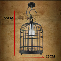 Modern Nordic Retro Birdcage Pendant Lights Led Lamps Living Room Loft Retro Pendant Lamps E27 Led
