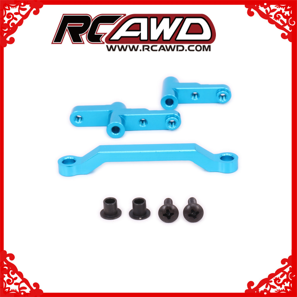 alloy steering servo saver complete set for rc hobby model car 1/10 Himoto big foot monster truck E10MTL E10MT E10BP