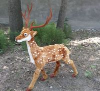 Simuluation пятнистого оленя модель большой 85x100 см, пластиковые и меха оленей ремесленного Prop Главная подарок украшения сада d2984