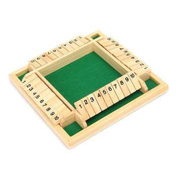 Traditional Shut the Box Game Wooden Board Number Drinking Dice Toy Family Game Funny Entertainment Board Game