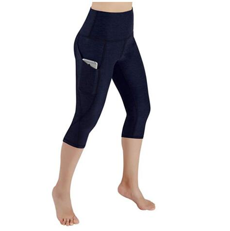 Flying Roc 2019 Women Workout Sports Running Slim Leggings Elastic Pants With Pocket For Iphone