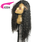 KRN Brazilian Lace Front Human Hair Wigs With Baby Hair Bleached Knots Remy Pre Plucked Lace Front Wigs Full End 130 Density