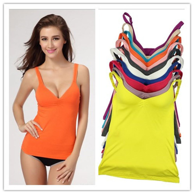 8 Colors Hot Sale Tank Top Bra Modal Adjustable Strap