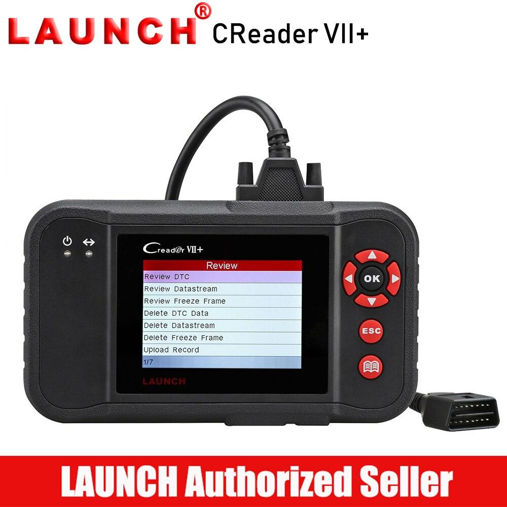 LANCEMENT X431 Creader VII + OBD2 Scanner Voiture Lecteur de Code Auto Outil De Diagnostic Moteur Transmission ABS Airbag Numérisation Creader VII plus
