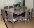 """NEW!66"""" SQUARE DINING TABLE AND ARMLESS DINING CHAIRS"""