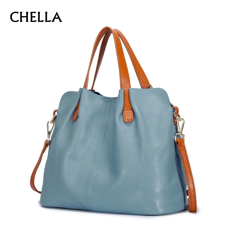 Women Genuine Leather Handbag Europe Fashion First Layer Of Cowhide Female Bag Luxury Handbags Women Bags Designer Bolsa SS0307 polo women golf club clothing bag handbag nylon first layer of leather