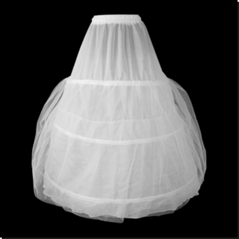 LAMYA Wedding Petticoat Vintage With Three Hoops Bustle Aupport Akirt  hoop skirt