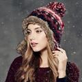 Chapéu do Inverno Kenmont Mulheres Senhora Menina Quente Earflap Chapéu Acrílico da Pele Do Falso Cap Gorro de Esqui Ao Ar Livre 1624