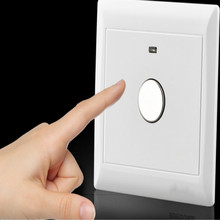 universal 86type 86*86MM touch switch 220v light on off Time delay Power outages free shipping