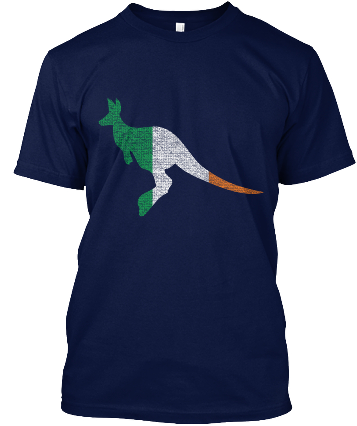 Aussie Australia Irish Ireland Flag Wome popular Tagless Tee T-Shirt