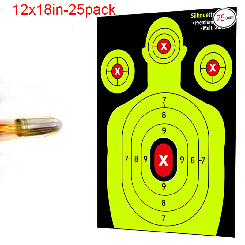 Target SHOOTING TARGETS - shooting stickers- Heavy-Grade Silhouette Paper Sheets - Best Value Gun Targets. slingshot hunting ...