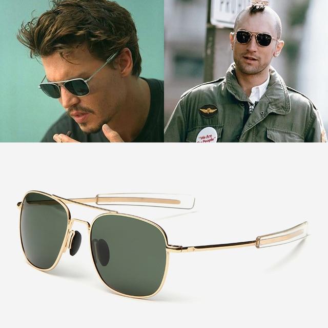 045309e98e8f3 JackJad Homens Moda MILITAR Do Exército Estilo Aviador Óculos Polarizados  Condução Óculos de Sol de Design