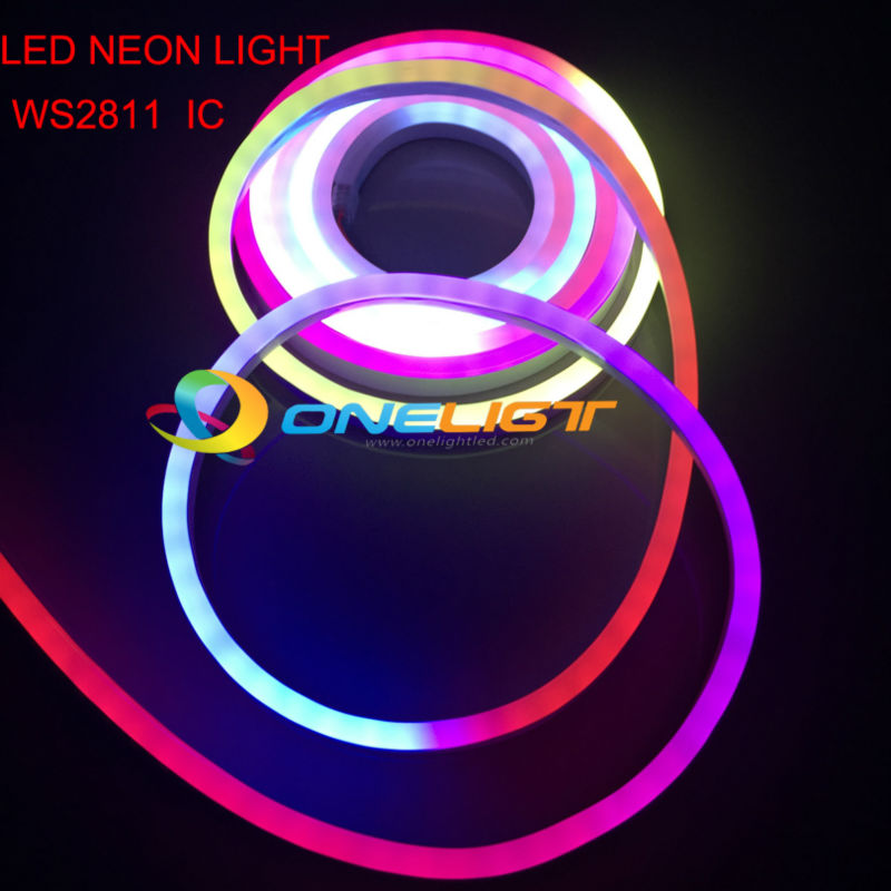 US $232 0 |RGB WS2811 IC LED Full Color Flexible LED Neon Flex rope bar  light 5050 60leds/M outdoor Indoor white RGB soft tube strip lights-in LED