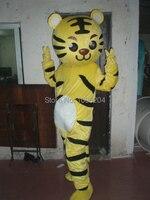 Высокого качества Желтый Тигр маскарадный костюм животных вид костюмы