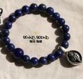 8MM Tibetan Lapis Lazuli Beads Bracelet Lapis Lazuli Beaded Mala Bracelet Women Bracelet