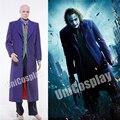 Batman Dark Knight Joker Disfraces de Halloween Cosplay Traje de Conjunto de Los Hombres de Invierno con Gabardina Chaqueta Chaleco Pantalones de la Camisa
