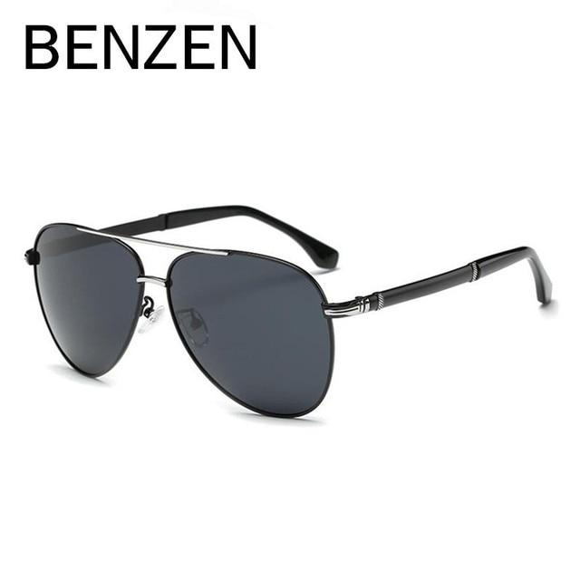BENZEN Sunglasses Men Polarized Brand Designer Aviation Male Sun Glasses HD UV Pilot Driving Glasses For Men With Case 9173