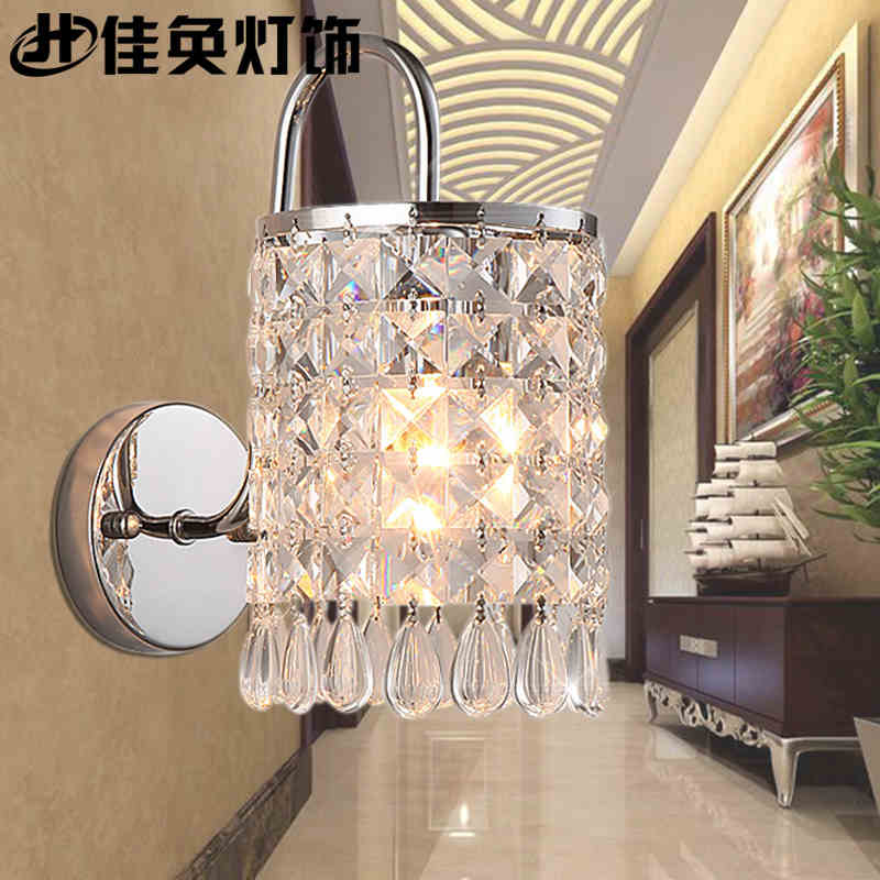 new crystal wall lamp indoor wall mounted lighting wall sconces E14 110V 220V free shipping crystal wall lamp gold modern bed lighting fashion wall mounted lamps e14 wall sconces
