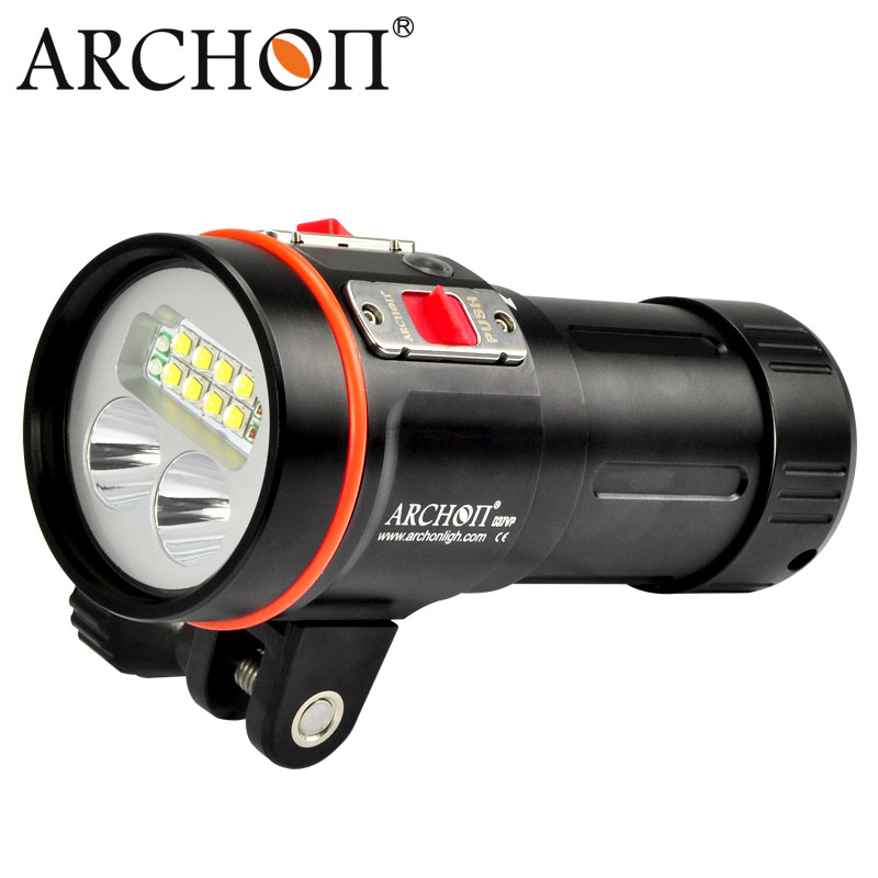ARCHON D37VP W43VP LED diving video light 5200LM underwater diving flashlight uv red scuba photography light 100m waterproof scuba dive light