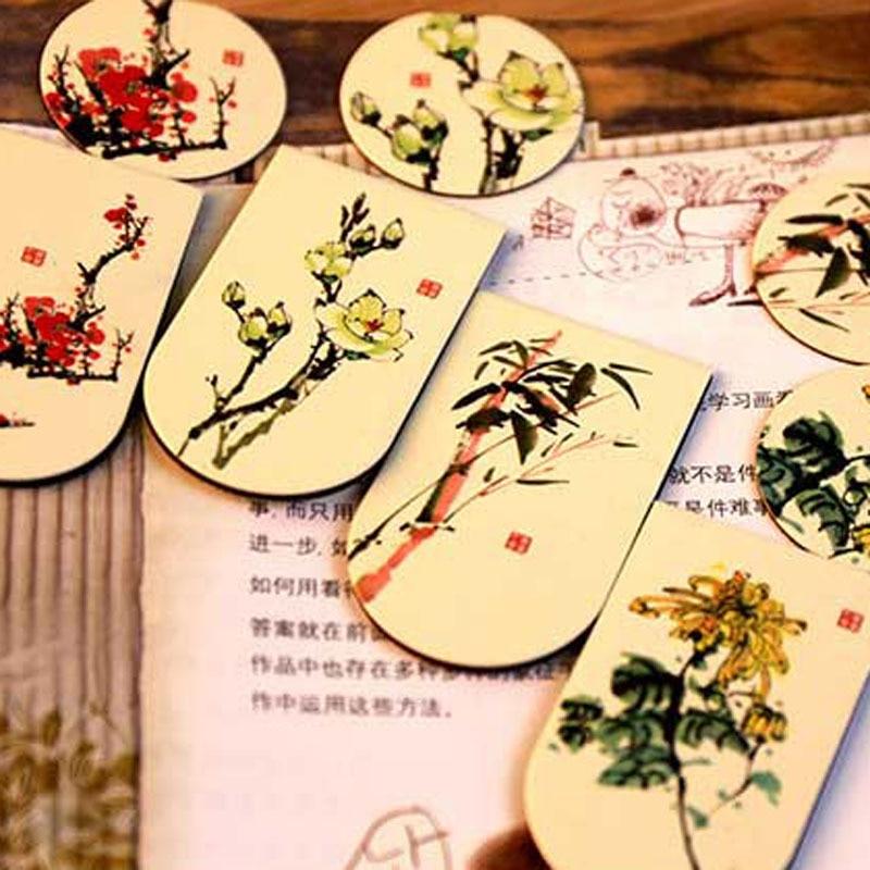 1 Stück Koreanische Neue Kommende Produkt Chinesischen Wind Magnetische Klassische Kreative Lesezeichen Nette Kawaii Kreative Geschenke Für Kinder Schreibwaren