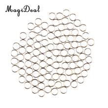 MagiDeal High Quality 100Pcs/Set Stainless Steel Dart Shaft O-Rings Round Guard Rings Silver for Indoor Funny Games Darts Acce(China)