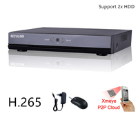 Seculink 16CH 32CH 5MP 1920P Network Video Recorder Super HD ONVIF NVR HDMI VGA H265 Cloud P2P Mobile Remote Support 2x HDD