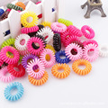 100pcs/lot headwear women Telephone Line Circle Rubber String Day Headrope Ornaments Hair accessories Decorate Trumpet frozen