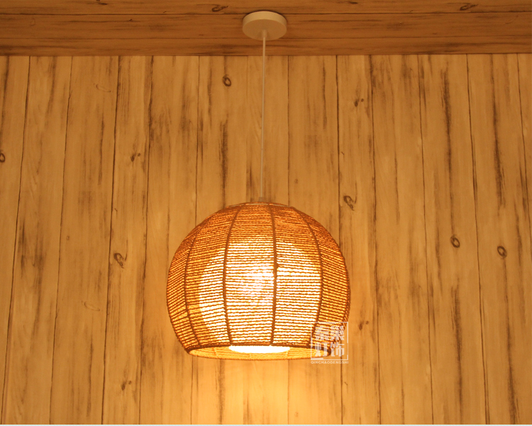 New asian rattan pendant lights japanese retro round rattan garden new asian rattan pendant lights japanese retro round rattan garden balcony lamp shade bedroom study restaurant pendant lamps in pendant lights from lights aloadofball Image collections
