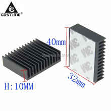 2 Piece / Lot 40x32x10mm Amplifier Peltier Cooler Heat Sink Aluminum Radiator Heatsink Cooling