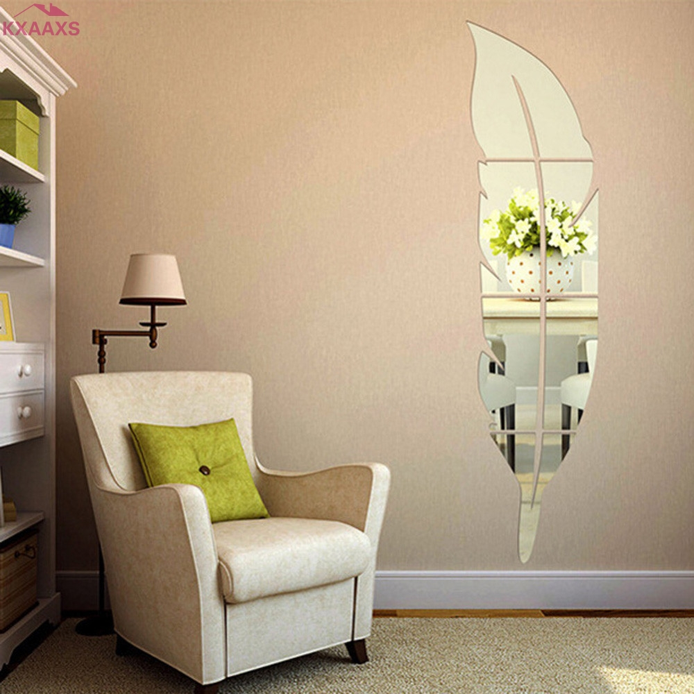1 Set Mirror Wall Stickers Decal Butterflies 3D Mirror Wall Art Home Decors butterfly fridge wall decal on sale ...