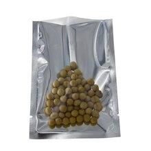 Wholesale 2500Pcs 8x12cm Translucent Clear Aluminum Foil Packaging Bag Open Top Heat Seal Mylar Plastic Package Vacuum Pouch