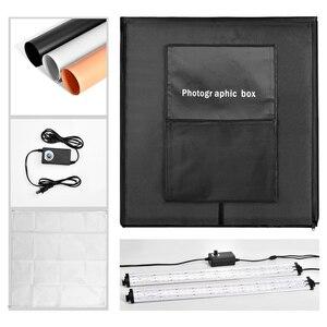 Image 5 - ZUOCHEN【UPGRADED】 60CM Fotoğraf Stüdyosu Fotoğraf Kiti Taşınabilir led ışık Odası Kutusu küp çadır Softbox Kiti