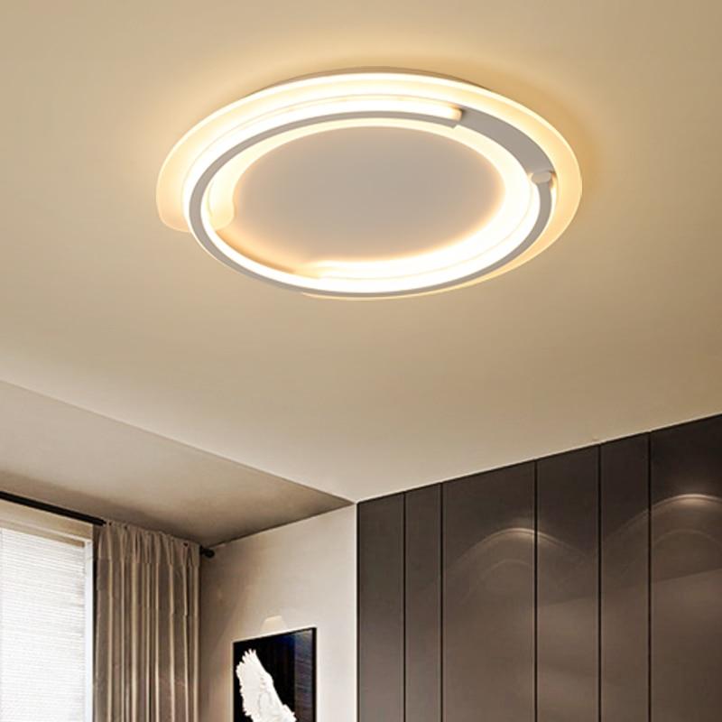 Acrylic White modern Led Chandelier lighting for bedroom Living room iron lustre luminaria lampadario Ceiling Chandelier цена