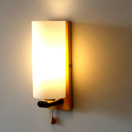 Creative Glass Wall Sconce Simple Modern Wooden LED Wall Light Fixtures For Bedroom Wall Lamp Home Lighting LamparasCreative Glass Wall Sconce Simple Modern Wooden LED Wall Light Fixtures For Bedroom Wall Lamp Home Lighting Lamparas