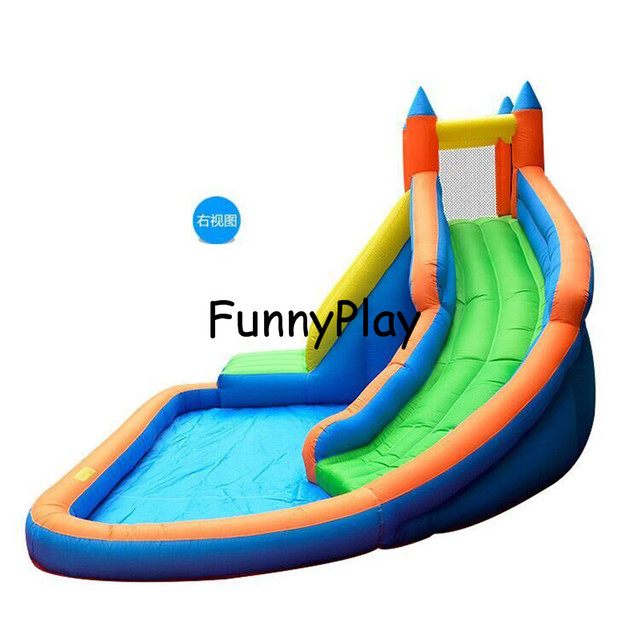 Inflatable Mini Water Slide With Pool,Multi Function 420D Nylon Oxford Inflatable  Pool Slides