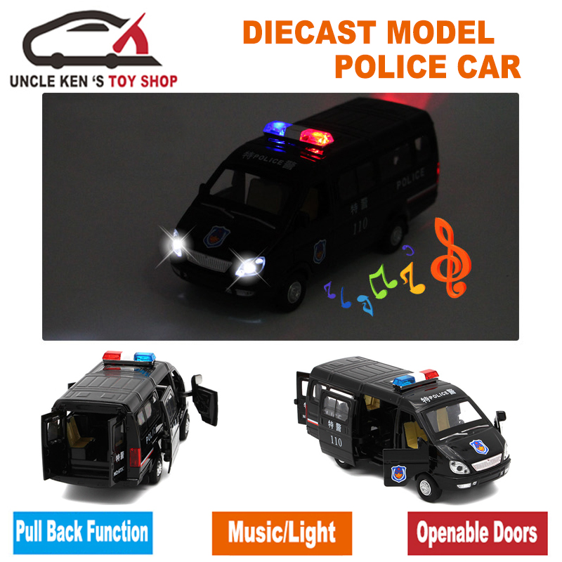 1/32 Scale Diecast Ryska GAZ Gazel Polis Ambulansmodellbil för - Bilar och fordon - Foto 5