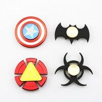 Hand Spinner Batman Captain America Iron Man Fidget Spinner Metal Tri Spinner Anti Stress Fingertips Toys