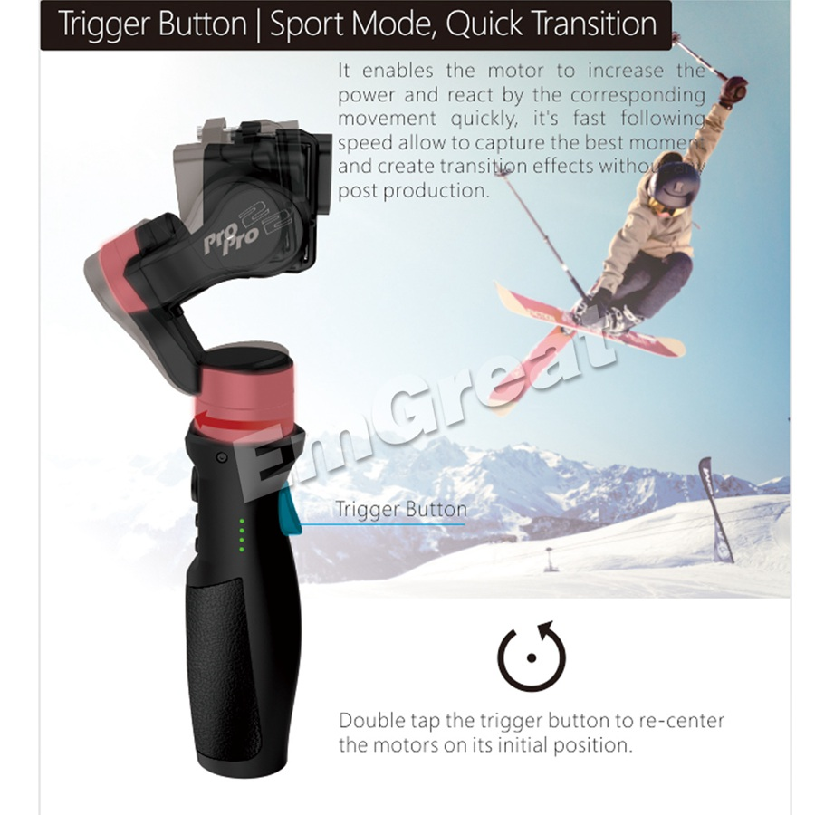 Hohem iSteady Pro 2/Pro брызг 3 осевой ручной однажды для DJI Osmo Экшн камера Gopro Hero 7/6/5/4/3 SJCAM YI экшн камер - 4