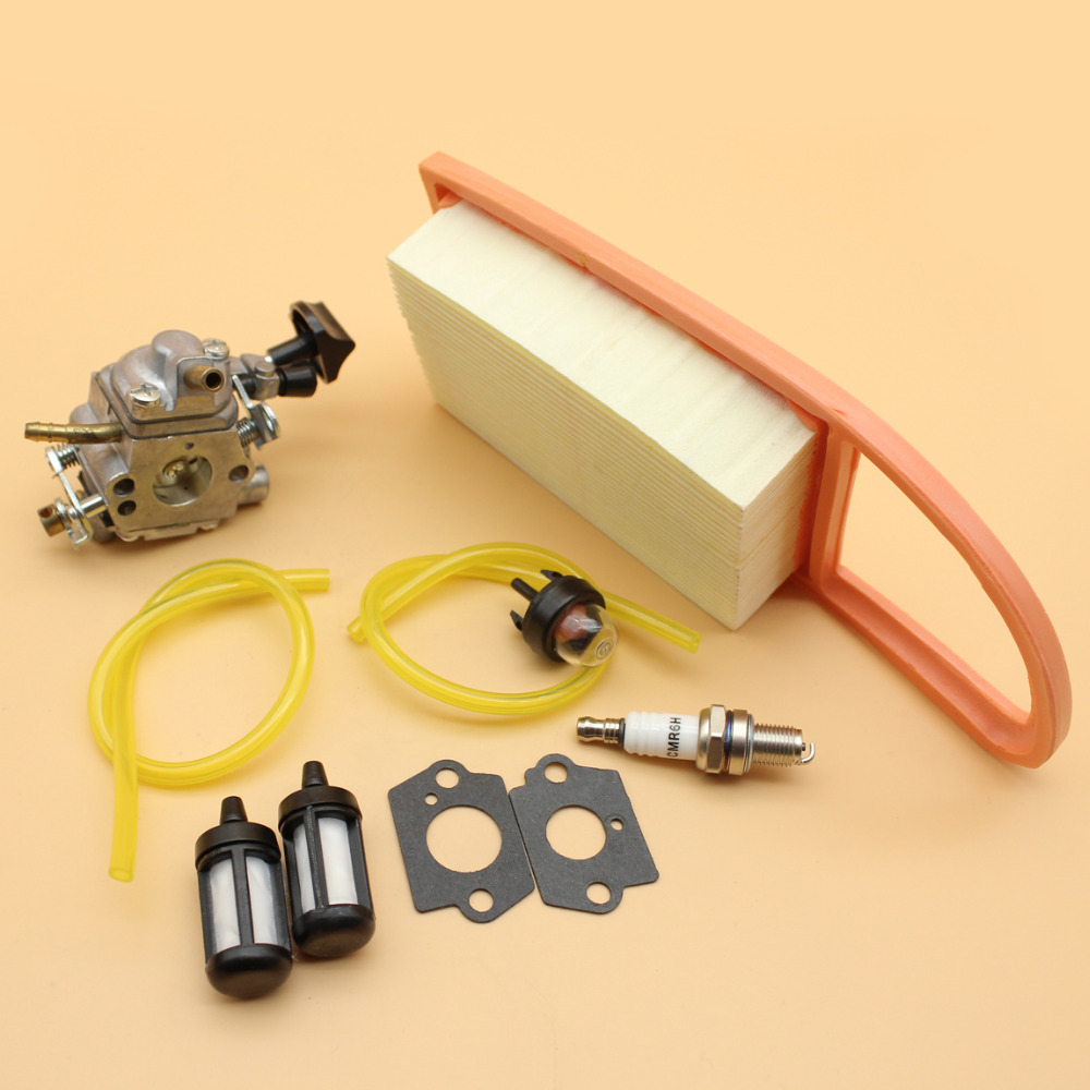 Tools : Carburetor Carb Air Filter Fuel Hose Primer Bulb Tune Up Kit For STIHL BR550 BR600 BR500 Backpack Blower Zama C1Q-S183