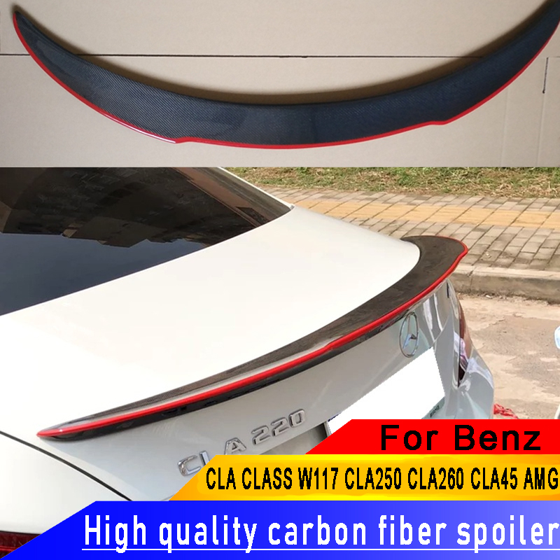 For Mercedes Benz CLA 2013 2017 Carbon Fiber Spoiler For CLA CLASS W117 CLA250 CLA260 CLA45 AMG Rear Car Carbon Fiber Spoiler