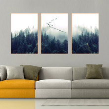 AAVV Nordic Decoration Forest Lanscape Wall Art Canvas Poster Print Canvas Painting Decorative Picture for Living Room No Frame(China)