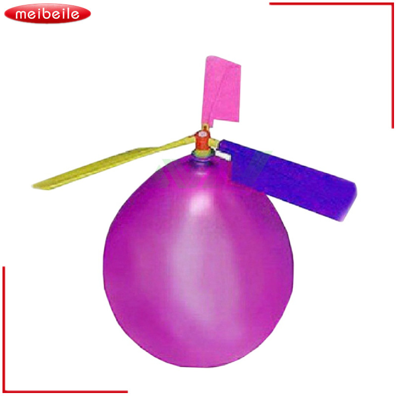 Creative Funny Balloon Airplane Helikopter til Kids Child Party Bag Filler Flyve Toy Gift Outdoor Tilfældig Farve