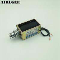 High quality JF 1564B DC12V 55N/10mm Open Frame Pull Push Solenoid Electromagnet Free shipping