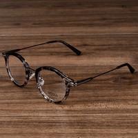Nossa Винтаж цветочный овальные очки Для женщин и Для мужчин очки Ретро ацетат из металла Очки Рамки близорукость рецепту оптический Рамки