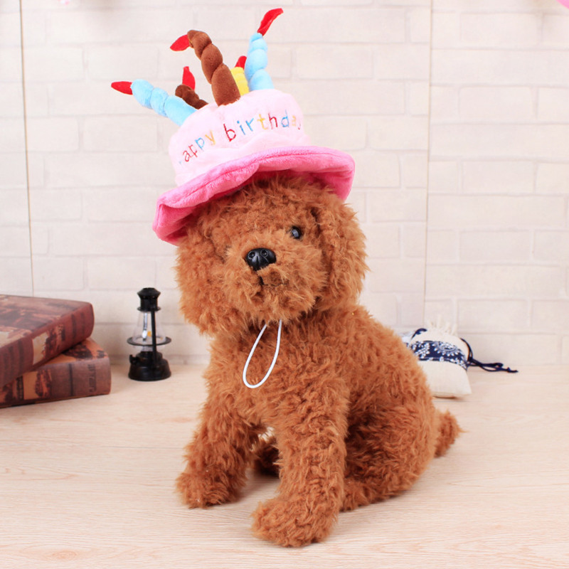Cake Candles Design Pet Dog Birthday Hat For Small Cats Dogs Cartoon Cap Fashion Accessories P15 In From Home Garden On