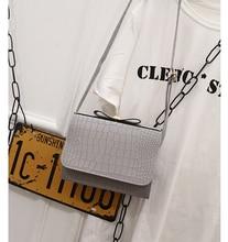 New bow shoulder bags Flap Hand Crossbody Bag 2017 Fashion Women Messenger Bags Mini alligator Handbag For Lady Sac Femme Bolsa