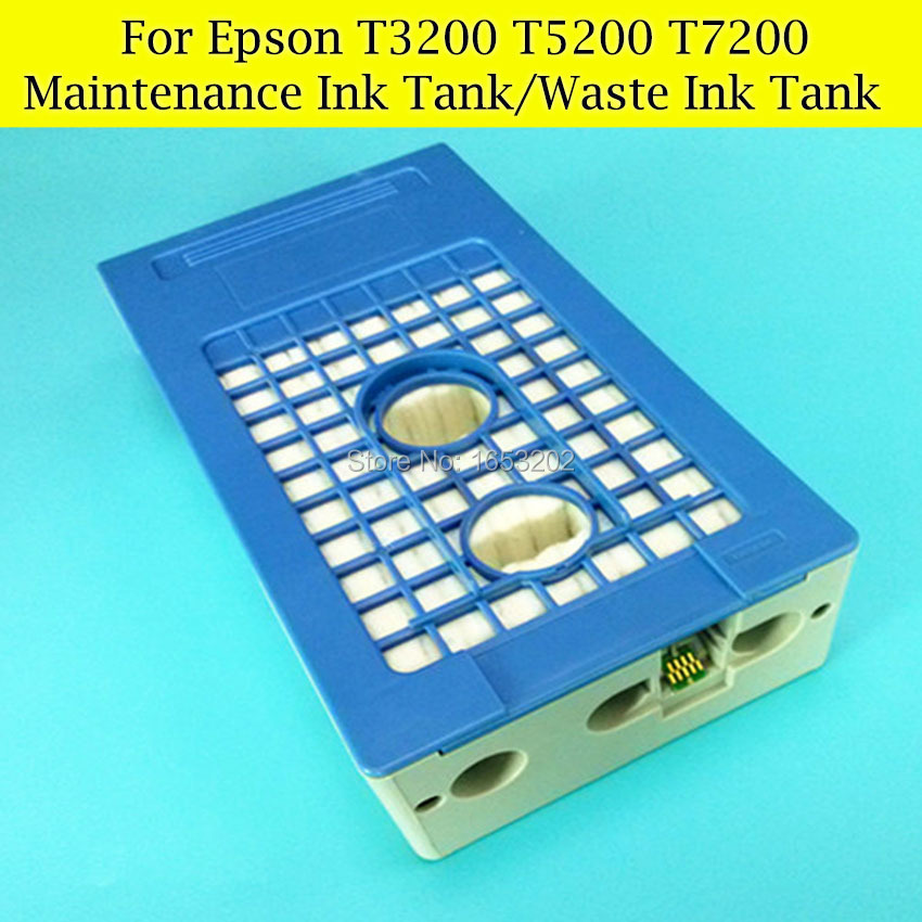1 PC Waste Ink Tank For EPSON Surecolor T3200 T5200 T7200 Printer Maintenance Box Tank best price stable maintenance ink tank for epson surecolor t3070 t5070 t7070 printer waste ink tank